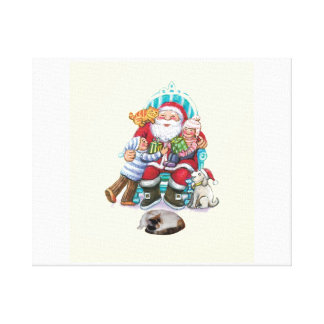Santa and Friends Canvas Print