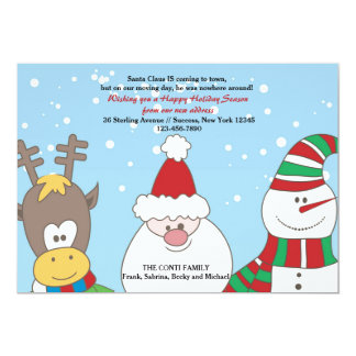 Santa and Friends Holiday Moving Announcement