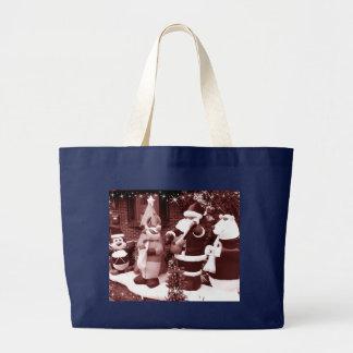 Santa and Friends Large Tote Bag