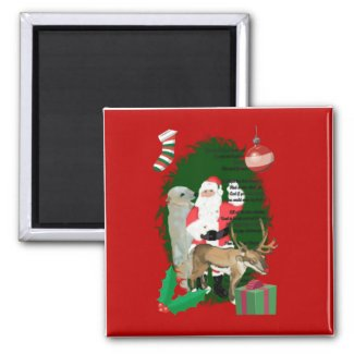 Santa and Friends magnet