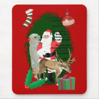 Santa and Friends mousepad