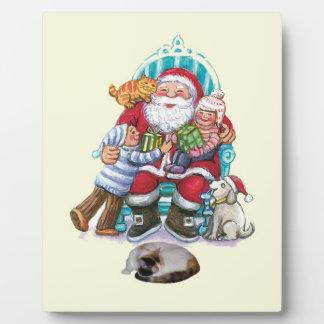Santa and Friends Photo Plaque
