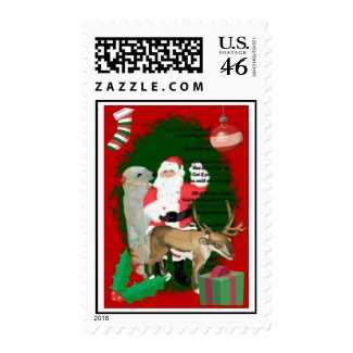 Santa and Friends stamp