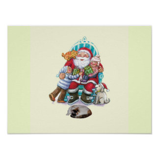 Santa and Friends Poster