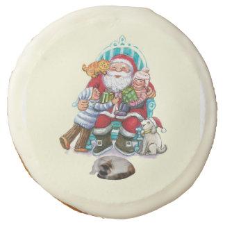 Santa And Friends Sugar Cookie