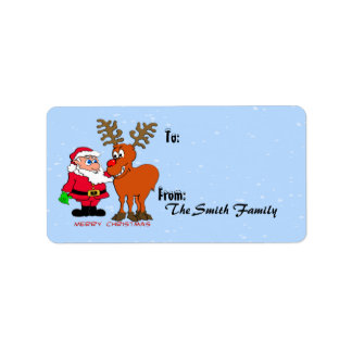 Santa and Gift Tags