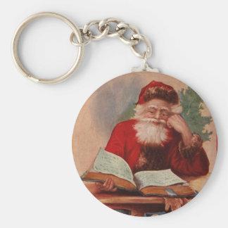 Santa and Heavy Tome Keychain