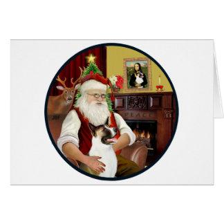 Santa and his Akita Card