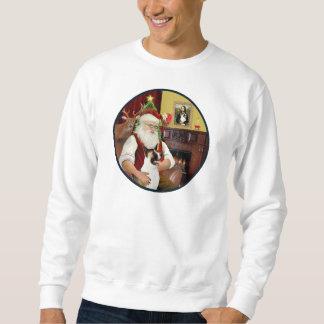 Santa and his Akita Sweatshirt