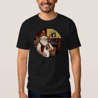 Santa and his Akita T Shirt