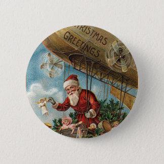 Santa and His Blimp Button