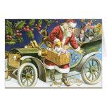 Santa and his Car Christmas Card
