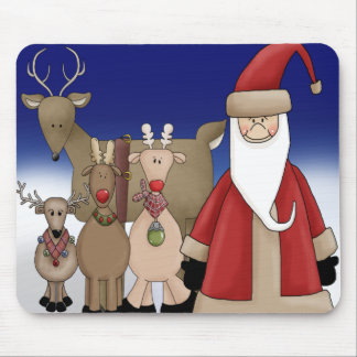 Santa and his deer mouse pads
