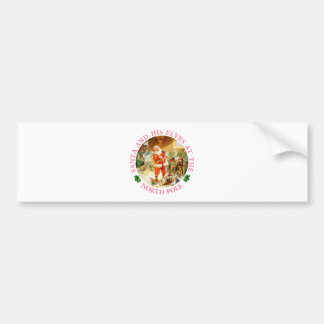 Santa and His Elves at the North Pole Bumper Sticker