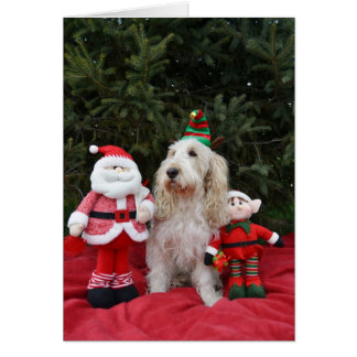 Santa and his elves card