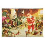 Santa and His Elves in The North Pole Stables Placemats