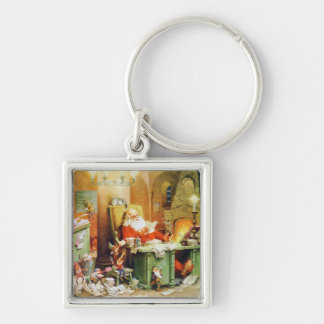 Santa and His Elves Make a List and Check It Twice Keychain