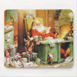Santa and His Elves Make a List and Check It Twice Mouse Pad