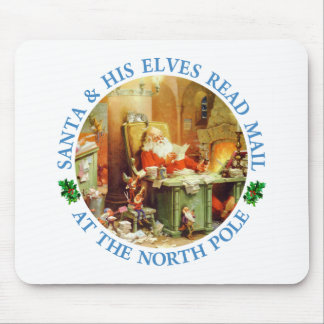 Santa and His Elves Read Mail at the North Pole Mouse Pads