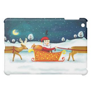 Santa and his funny deer iPad Mini case