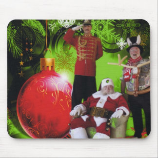 SANTA AND HIS HELPERS MOUSE PAD