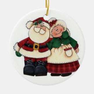 SANTA AND HIS MRS. CHRISTMAS ORNAMENT
