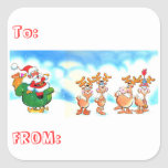 Santa and His Reindeer? Christmas To From Stickers