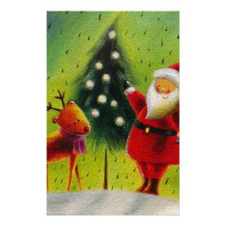 Santa and his Reindeer Stationery
