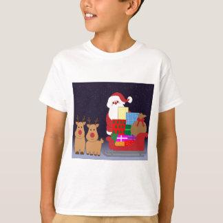 Santa And His Reindeer T-Shirt