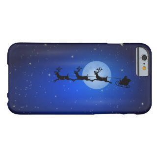 Santa and his reindeers flying at night barely there iPhone 6 case