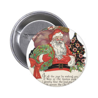 Santa and His Sack of Toys Pinback Buttons