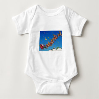 Santa and his Sleigh Baby Bodysuit