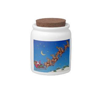 Santa and his Sleigh Candy Jars