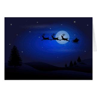 Santa and his sleigh. card