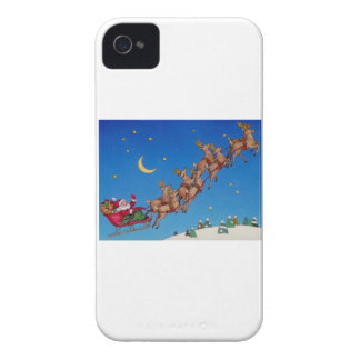 Santa and his Sleigh Case-Mate iPhone 4 Case
