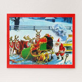 Santa and his sleigh jigsaw puzzle