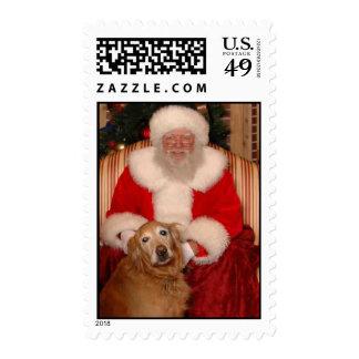 Santa and Homer Stamp