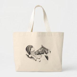 Santa-and-Horse- Large Tote Bag