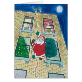 Santa and menorah cards