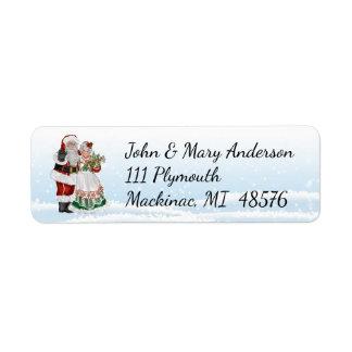 Santa and Mrs. Claus Address Label