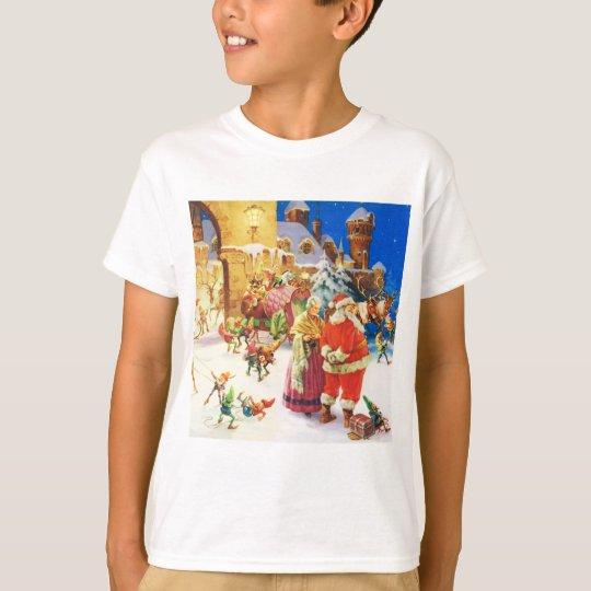 Santa and Mrs. Claus at the North Pole T-Shirt