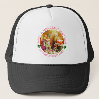 Santa and Mrs. Claus at the North Pole Trucker Hat