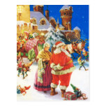 Santa and Mrs Claus, Christmas Eve,The North Pole Postcard