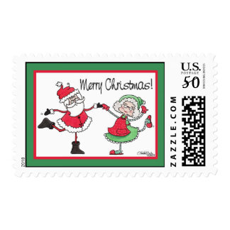 Santa and Mrs. Claus Dance Postage