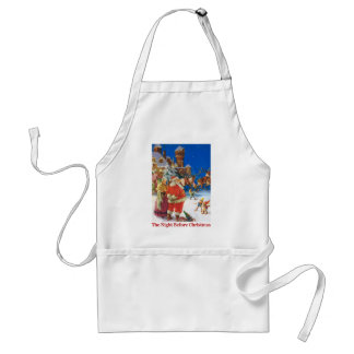 Santa and Mrs. Claus On the Night Before Christmas Adult Apron