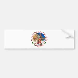 Santa and Mrs. Claus on the Night Before Christmas Bumper Sticker