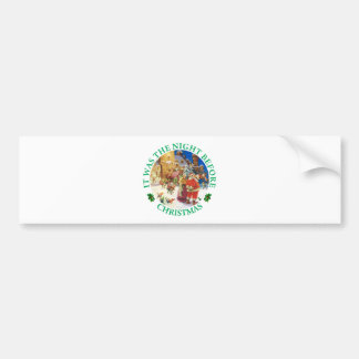 Santa and Mrs Claus On The Night Before Christmas Bumper Sticker