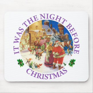 Santa and Mrs. Claus on the Night Before Christmas Mouse Pad