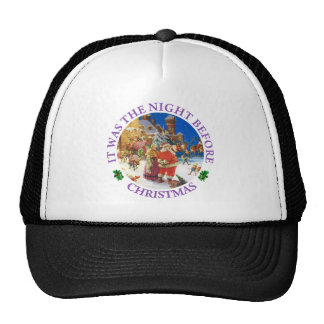 Santa and Mrs. Claus On The Night Before Christmas Trucker Hat