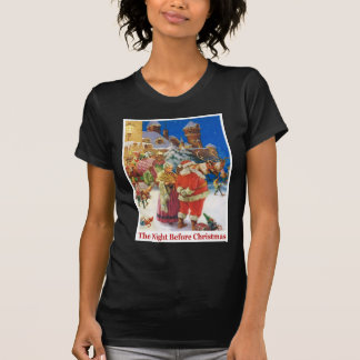 Santa and Mrs. Claus on the Night Before Chrsitmas T Shirts